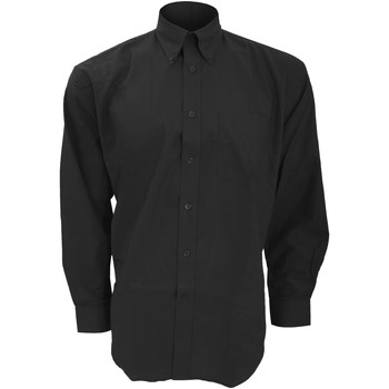 textil Herre Skjorter m. lange ærmer Kustom Kit KK351 Black