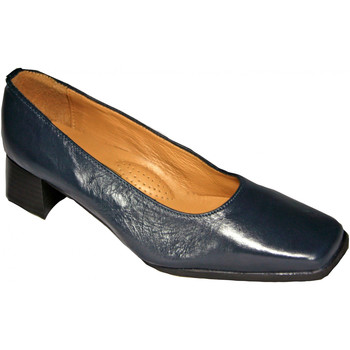Sko Dame Højhælede sko Amblers WALFORD SHOE X WIDE (BLACK/NAVY) Navy