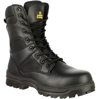 Sko Herre Sikkerhedssko Amblers FS008 Safety Boots (Euro Sizing) Black