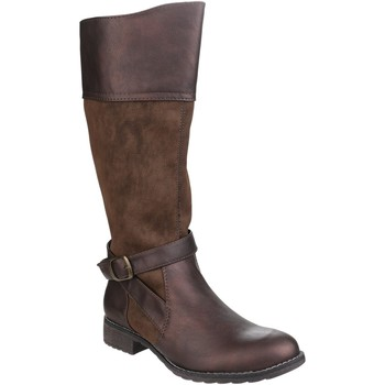 Sko Dame Chikke støvler Divaz  Brown