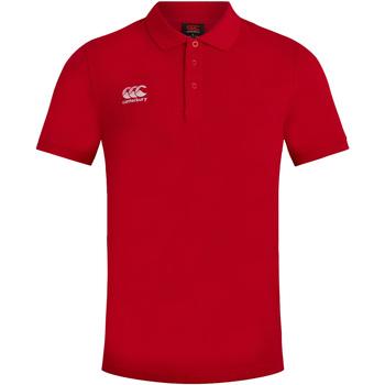 textil Herre Polo-t-shirts m. korte ærmer Canterbury CN220 Red