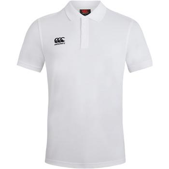 textil Herre Polo-t-shirts m. korte ærmer Canterbury CN220 White