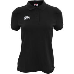 textil Dame Polo-t-shirts m. korte ærmer Canterbury CN220F Black
