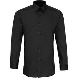 textil Herre Skjorter m. lange ærmer Premier PR204 Black