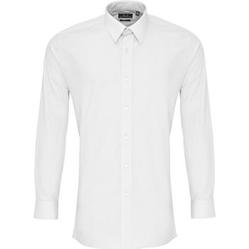textil Herre Skjorter m. lange ærmer Premier PR204 White