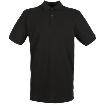 textil Herre Polo-t-shirts m. korte ærmer Henbury HB101 Black