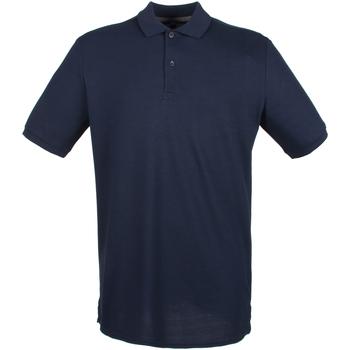 textil Herre Polo-t-shirts m. korte ærmer Henbury HB101 Navy