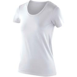 textil Dame T-shirts m. korte ærmer Spiro SR280F White