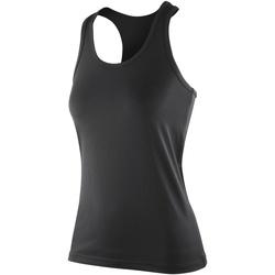 textil Dame Toppe / T-shirts uden ærmer Spiro SR281F Black