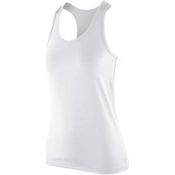textil Dame Toppe / T-shirts uden ærmer Spiro SR281F White