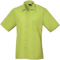 textil Herre Skjorter m. korte ærmer Premier PR202 Lime