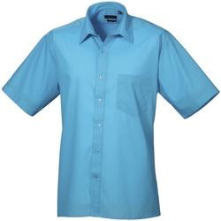 textil Herre Skjorter m. korte ærmer Premier PR202 Turquoise