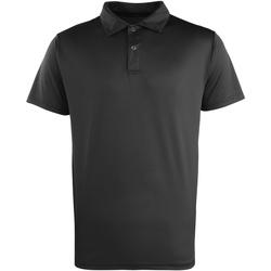 textil Polo-t-shirts m. korte ærmer Premier PR612 Black