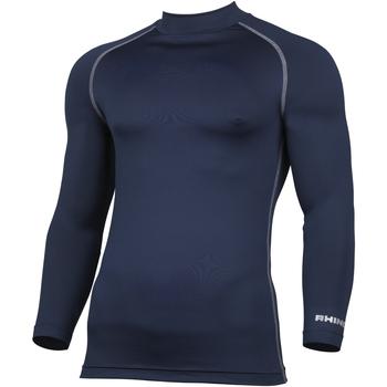 textil Herre Langærmede T-shirts Rhino RH001 Navy