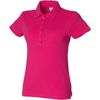textil Dame Polo-t-shirts m. korte ærmer Skinni Fit SK042 Fuchsia