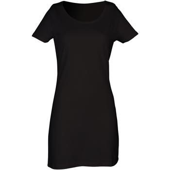 textil Dame Korte kjoler Skinni Fit Scoop Neck Black