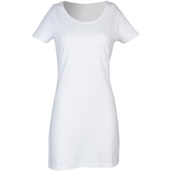 textil Dame Korte kjoler Skinni Fit Scoop Neck White
