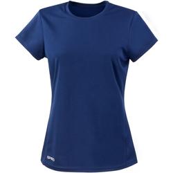 textil Dame T-shirts m. korte ærmer Spiro S253F Navy