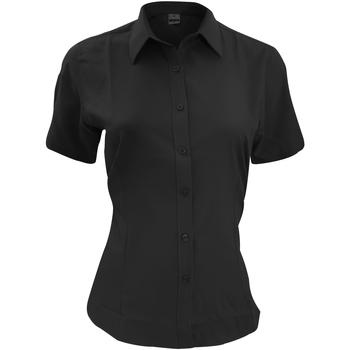textil Herre Skjorter m. korte ærmer Henbury HB596 Black