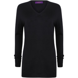 textil Dame Pullovere Henbury Cashmere Touch Navy