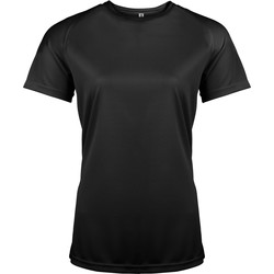 textil Dame T-shirts m. korte ærmer Kariban Proact PA439 Black