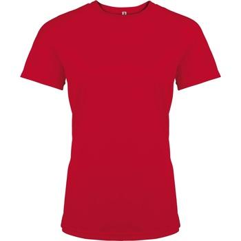 textil Dame T-shirts m. korte ærmer Kariban Proact PA439 Red