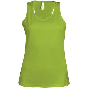 textil Dame Toppe / T-shirts uden ærmer Kariban Proact Proact Lime