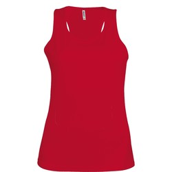 textil Dame Toppe / T-shirts uden ærmer Kariban Proact Proact Red