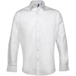 textil Herre Skjorter m. lange ærmer Premier PR207 White