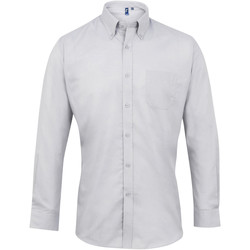 textil Herre Skjorter m. lange ærmer Premier PR234 Silver