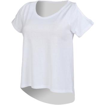 textil Dame T-shirts m. korte ærmer Skinni Fit SK233 White