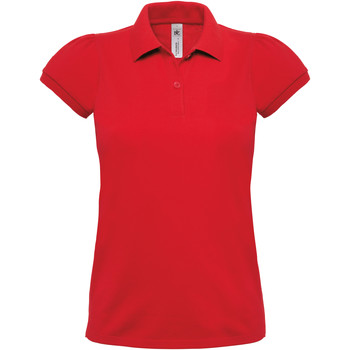 textil Dame Polo-t-shirts m. korte ærmer B And C Heavymill Red