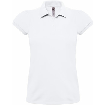 textil Dame Polo-t-shirts m. korte ærmer B And C Heavymill White