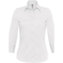 textil Dame Skjorter / Skjortebluser B And C Milano White