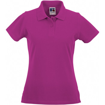 textil Dame Polo-t-shirts m. korte ærmer Russell 569F Fuchsia