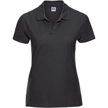 textil Dame Polo-t-shirts m. korte ærmer Russell J577F Black