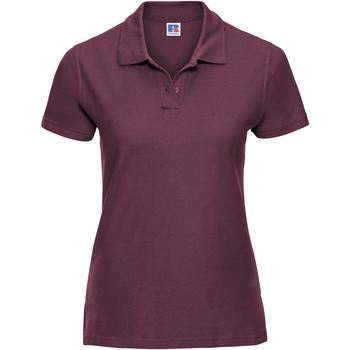 textil Dame Polo-t-shirts m. korte ærmer Russell J577F Burgundy