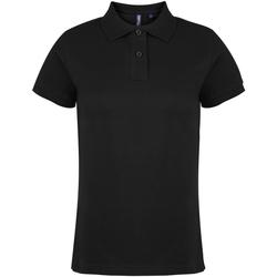 textil Dame Polo-t-shirts m. korte ærmer Asquith & Fox  Black