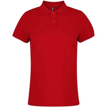 textil Dame Polo-t-shirts m. korte ærmer Asquith & Fox  Red