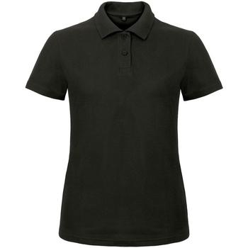 textil Dame Polo-t-shirts m. korte ærmer B And C ID.001 Black
