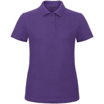 textil Dame Polo-t-shirts m. korte ærmer B And C ID.001 Purple