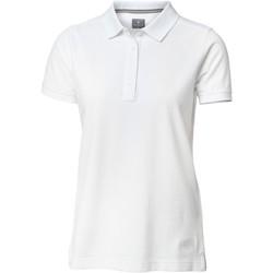 textil Dame Polo-t-shirts m. korte ærmer Nimbus Yale White