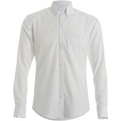 textil Herre Skjorter m. lange ærmer Kustom Kit KK184 White