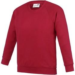 textil Børn Sweatshirts Awdis AC01J Red