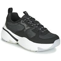 Sko Dame Lave sneakers Victoria AIRE NYLON/SERRAJE PU Sort