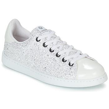 Sko Dame Lave sneakers Victoria TENIS GLITTER Hvid