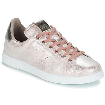 Sko Dame Lave sneakers Victoria TENIS METALIZADO Pink / Metal