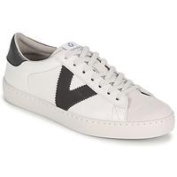 Sko Herre Lave sneakers Victoria BERLIN PIEL CONTRASTE Hvid / Grå