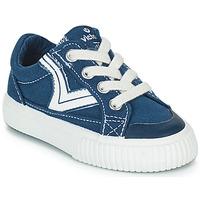 Sko Børn Lave sneakers Victoria TRIBU LONA RETRO Blå