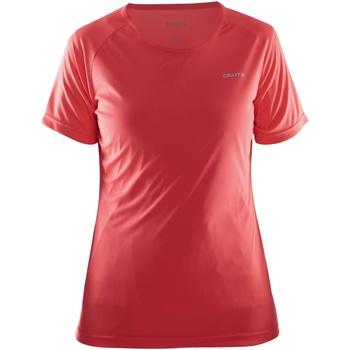 textil Dame T-shirts m. korte ærmer Craft CT86F Red